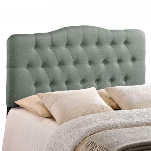 Annabel King Fabric Headboard, Gray by Modway Furniture