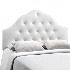 Sovereign Full Vinyl Headboard, White by Modway Furniture