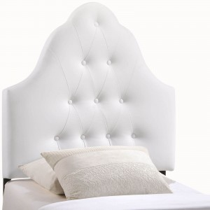 Sovereign Twin Vinyl Headboard, White by Modway Furniture
