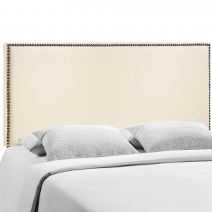 Region Queen Nailhead Upholstered Headboard, Ivory by Modway Furniture