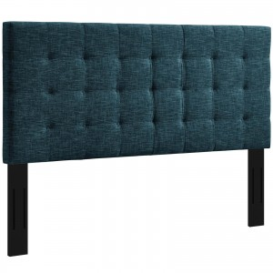 Paisley Tufted Full/Queen Upholstered Linen Fabric Headboard