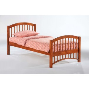 Molasses Wood Platform Bed