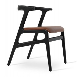 Morelato Wood/PU Dining Chair