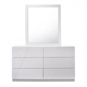 Naples Modern Lacquer Dresser with Mirror