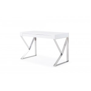 Noho Modern High Gloss Office Desk with Storage Drawers