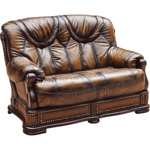 Oakman Leather/Eco-Leather Loveseat by ESF Furniture