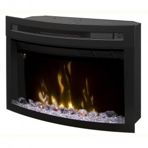 "Curved Acrylic Ice 25"" Multi-Fire XD® Electric Firebox"