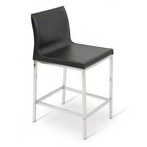 Polo Metal Low Back Counter Stool