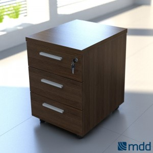 Quando QD13 Pedestal, Chestnut by MDD Office Furniture