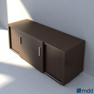 Quando QR16 Credenza, Chestnut by MDD Office Furniture