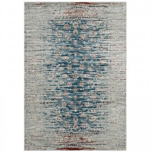 Hesper Distressed Contemporary Floral Lattice Rug
