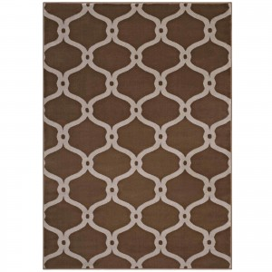 Beltara Chain Link Transitional Trellis Rug