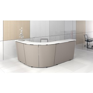 Tera Customizable Reception Desk by Kansole