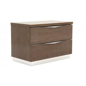 Platinum Wood Maxi Nightstand