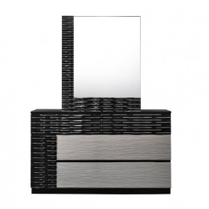 Roma Modern Lacquer Dresser with Mirror