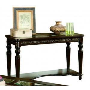Russian Hill Glass Sofa Table by Homelegance