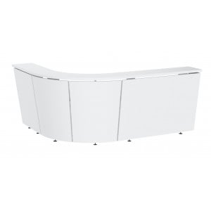 "Tera 102"" J-Shape Reception Desk"