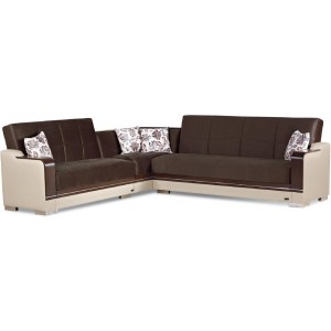 Texas 2015 Fabric/Vinyl/Wood Storage Sectional