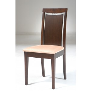 Side-35 Dining Chair, Set of 2, Walnut + Beige by New Spec Furniture