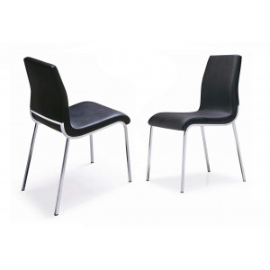 Side-4311 Dining Chair, Black by New Spec Furniture