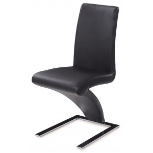 Side-455 Dining Chair, Black by New Spec Furniture