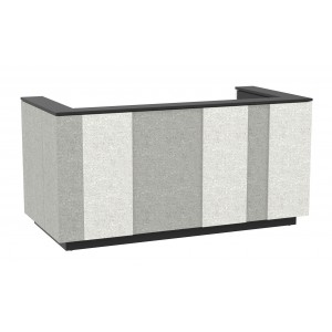"Domino 87"" Reception Desk, Color Combination 1"