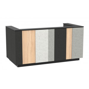 "Domino 87"" Reception Desk, Color Combination 2"