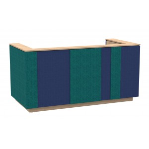 "Domino 87"" Reception Desk, Color Combination 3"