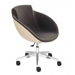 Tula Armchair, 5-star Base with Castors
