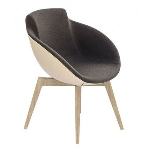 Tula Armchair, Solid Wood 4-leg Base