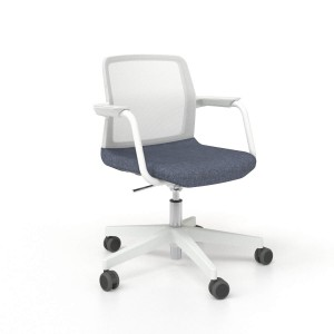 Wind Armchair, 5-star base with Castors