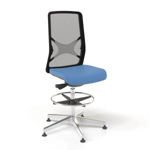 Wind High Swivel Chair with Mesh Backrest & Glides