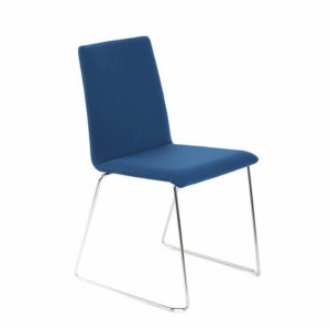 Moon Conference Fabric Chair, Wire Steel Frame