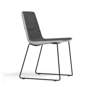 Tango Armless Chair, Wire Steel Base