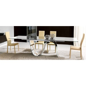 Modern Infinity Extendable Rectangular Dining Table