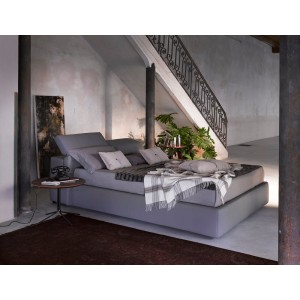 Tower Fabric/Ecoleather Storage Platform Bed