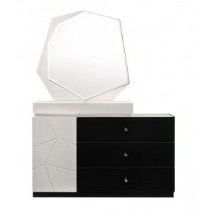 Turin Modern Lacquer Dresser with Mirror