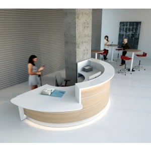 ALDE C Shaped Reception Desk w/Counter Top