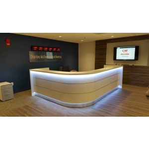 VALDE J Shaped Reception Desk
