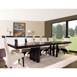 Verona Wood/Leather Dining Room Set by Sharelle Furnishings