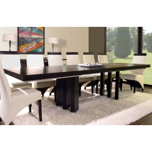 Verona Wood Dining Table w/Extensions by Sharelle Furnishings