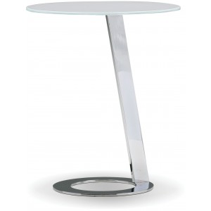 Vivid Clear Glass Metal End Table