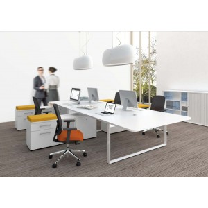 YAN_Z Office Desk Bench w/Managerial Side Storage