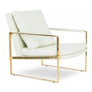 Zara Gold Base Lounge Armchair