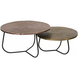 Cross Section Tables, Set Of 2