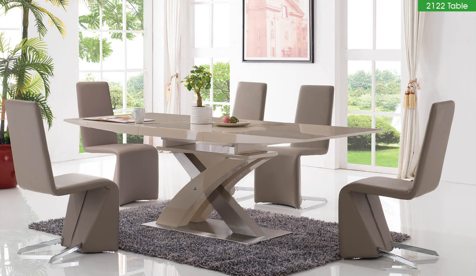 2122 5-Piece Dining Room Extending Set Buy Online at Best Price ...