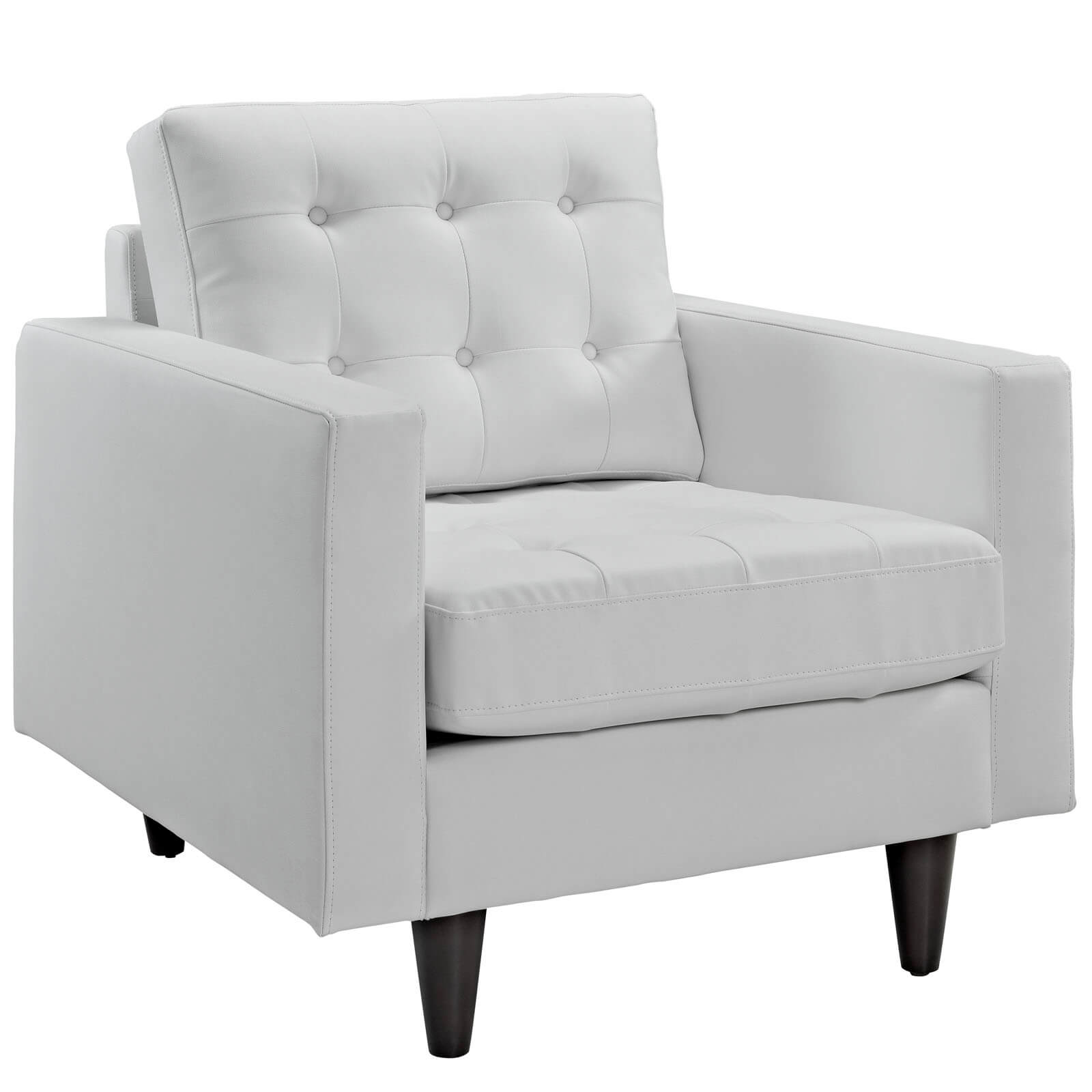 Attractive Empress Leather Armchair, White Buy Online At Best Price   SohoMod