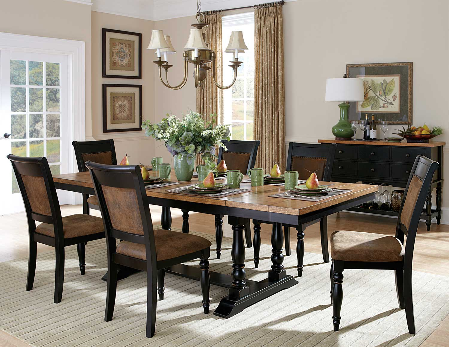 Distressed dining room sets