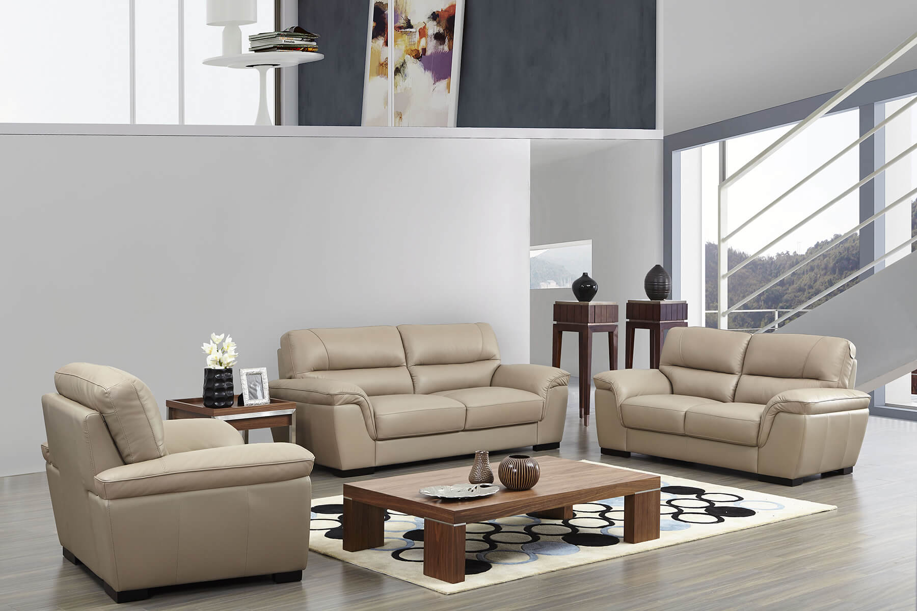 Modern italian leather sofa - As Shown On The Picture