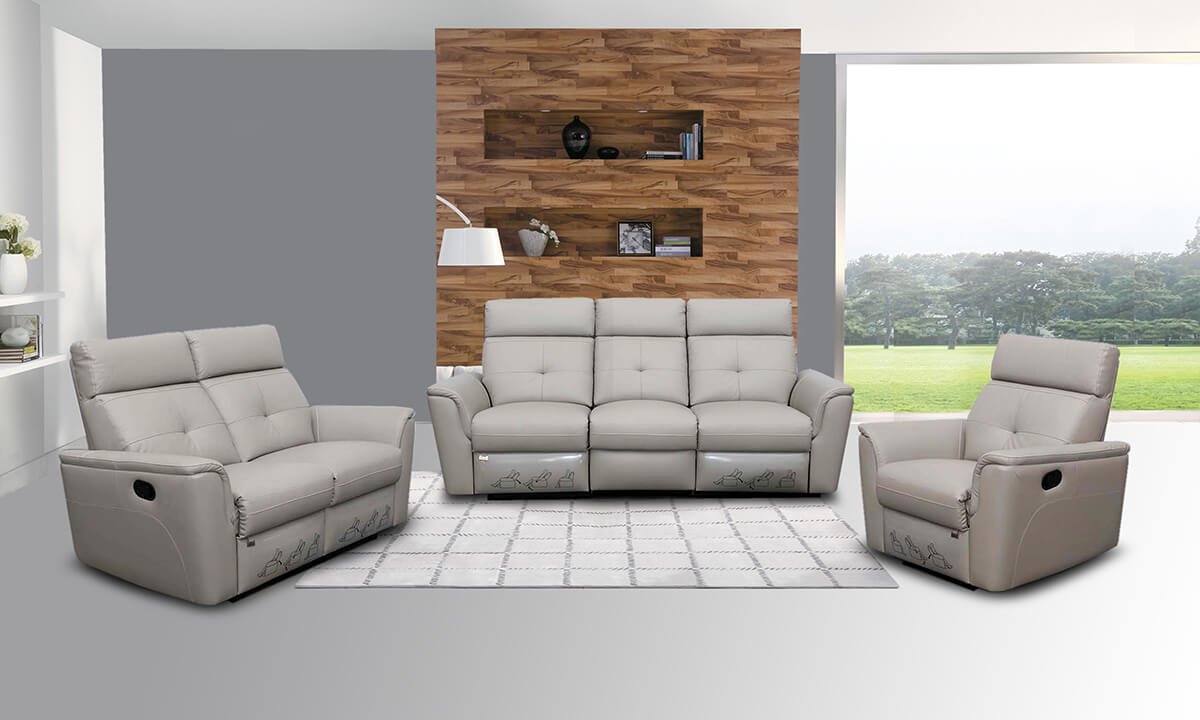 8501 Living Room Set w/Recliner Buy Online at Best Price - SohoMod
